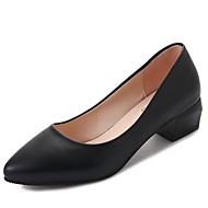 Χαμηλού Κόστους Offcie Fashion-Γυναικεία Παπούτσια PU Χειμώνας Φθινόπωρο Ανατομικό Τακούνια Κοντόχοντρο Τακούνι Στρογγυλή Μύτη για Causal Μαύρο