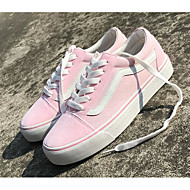 cheap Women's Sneakers-Women's Shoes Canvas Spring Fall Comfort Sneakers Flat Heel for Casual White Black Blue Pink