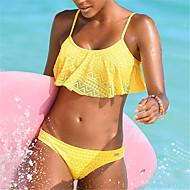 Dame Med stropper Bikini - Ensfarvet