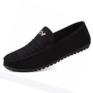 남성 구두 스웨이드 봄 가을 모카신 조명 신발 플랫 워킹화 캐쥬얼 용 블랙 그레이 그린