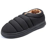 お買い得  メンズスリッパ&ビーチサンダル-男性用 靴 カシミヤ 冬 コンフォートシューズ スリッパ&フリップ・フロップ のために カジュアル グレー Brown