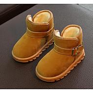 Недорогие -Мальчики обувь Нубук Зима Осень Удобная обувь Зимние сапоги Ботинки Для прогулок Ботинки Пряжки для Повседневные Черный Пурпурный