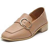 Mujer Zapatos Ante Verano Confort Zapatos de taco bajo y Slip-On Tacón Bajo Punta cerrada Negro / Marrón 8TPPcmdIUl