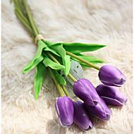 billige Kunstig Blomst-Kunstige blomster 1 Afdeling Bryllup Tulipaner Bordblomst