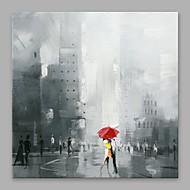 billiga Människomålningar-Hang målad oljemålning HANDMÅLAD - Människor Moderna Duk