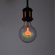 billige Glødelampe-1pc 1.5 W E26/E27 G80 Varm hvit 2300 K Kontor / Bedrift Dekorativ Glødende Vintage Edison lyspære AC 220-240V V