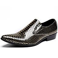 baratos Sapatos Masculinos-Homens Pele Napa Primavera / Outono Conforto / Sapatos formais Mocassins e Slip-Ons Branco / Champanhe / Festas & Noite