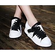 povoljno -Ženske Cipele Mekana koža Koža Proljeće Jesen Udobne cipele Oksfordice Wedge Heel za Kauzalni Obala Crn