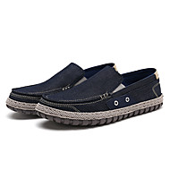 baratos Sapatos de Tamanho Pequeno-Homens Mocassim Lona Primavera / Outono Conforto Mocassins e Slip-Ons Cinzento Claro / Azul / Festas & Noite