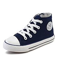 Недорогие -Мальчики обувь Полотно Весна Осень Удобная обувь Кеды для Повседневные Белый Черный Красный Синий