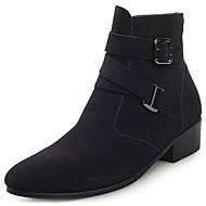Χαμηλού Κόστους Ανδρικές μπότες-Ανδρικά Μπότες Μάχης Σουέτ Άνοιξη / Φθινόπωρο Μπότες Μπότες στη Μέση της Γάμπας Μαύρο / Καφέ