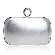 baratos Clutches & Bolsas de Noite-Mulheres Bolsas Courino Bolsa de Festa Botões / Detalhes em Cristal Prata / Vermelho / Azul Real