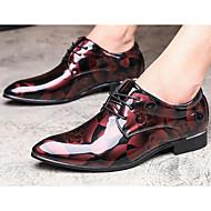 tanie Obuwie męskie-Męskie Komfortowe buty Skóra patentowa Wiosna / Jesień Oksfordki Szary / Niebieski / Burgundia