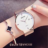 billige Quartz-Dame Quartz Armbåndsur Japansk Kalender / Sej Rustfrit stål Bånd Minimalistisk / Mode Sort / Sølv