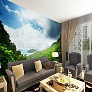 billige Tapet-Art Deco Mønster 3D Hjem Dekor Moderne Rustikk Tapetsering, Lerret Materiale selvklebende nødvendig Veggmaleri, Tapet