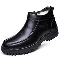 Muške Cipele Koža Zima Jesen Udobne cipele Čizme Čizme gležnjače / do gležnja za Kauzalni Crn Braon