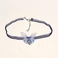 Mujer Gargantillas Tela de Encaje Mariposa damas Clásico Moda Azul Claro Gargantillas Joyas 1 Para Diario