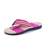 お買い得  メンズスリッパ&ビーチサンダル-男性用 靴 PUレザー 夏 コンフォートシューズ スリッパ&フリップ・フロップ のために アウトドア ブラック フクシャ Brown レッド ブルー