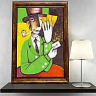 billige Innrammet kunst-Dyr Olje Maleri Veggkunst,Aluminium Legering Materiale med ramme For Hjem Dekor Rammekunst Stue