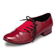billige Moderne sko-Herre Latin Lær Joggesko Trening Trimmer Lav hæl Svart Rød Kan spesialtilpasses