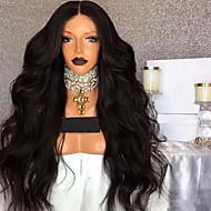 Menneskehår 360 frontal Paryk Brasiliansk hår 360 Frontal / Naturligt, bølget hår Paryk 180% Natural Hairline Lang Blondeparykker af menneskehår