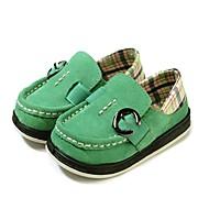 baratos Sapatos de Menino-Para Meninos Sapatos Couro / Tecido Primavera Conforto / Calçado vulcanizado Rasos Presilha / Elástico para Azul Escuro / Verde Claro