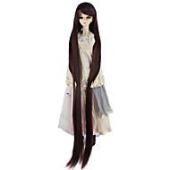 Χαμηλού Κόστους Περούκες για κούκλες-Συνθετικές Περούκες Κατσαρά Ίσια Συνθετικά μαλλιά Καφέ Περούκα Γυναικεία πολύ μακριά Χωρίς κάλυμμα Σκούρο Καστανοκόκκινο / κούκλα περούκα