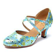 billige Moderne sko-Moderne Kunstlær Joggesko Trimmer Stiletthæl Svart Gul Grønn Kan spesialtilpasses