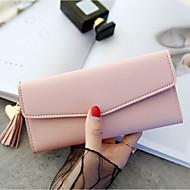 女性用 バッグ PU 財布 タッセル のために フォーマル ピンク