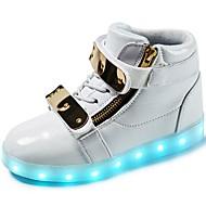 tanie Obuwie chłopięce-Dla chłopców Buty Derma Materiał do wyboru Zima Wiosna Świecące buty Comfort Tenisówki LED Haczyk i pętelka Szurowane na Casual Na wolnym