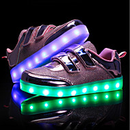 cheap Girls' Shoes-Girls' Shoes PU Spring Fall Light Up Shoes Light Soles First Walkers Sneakers LED for Casual Outdoor Gold Silver Pink