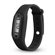 tanie Inteligentne zegarki-yy l8028 mężczyzna kobieta lcd zegarek data czerwony cyfrowy prostokąt wybierania gumką