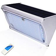 billige Utendørs Lampeskjermer-1pc 10W LED Solcellebelysning Fjernstyrt Vanntett Utendørsbelysning Kjølig hvit <5V
