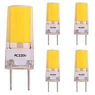 baratos Luzes LED de Dois Pinos-5pçs 3W 260lm Luminárias de LED  Duplo-Pin 1 Contas LED COB Luz LED Branco Quente 220-240V