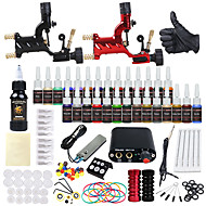cheap Tattoos & Body Art-DRAGONHAWK Tattoo Machine Starter Kit - 2 pcs Tattoo Machines with 1 x 30 ml / 28 x 5 ml tattoo inks, Professional Level, All in One, Easy to Install Alloy Mini power supply Case Not Included 2
