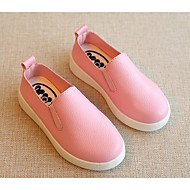 tanie Obuwie dziewczęce-Dla dziewczynek Dla chłopców Buty Syntetyczny Microfiber PU Wiosna Jesień Comfort Mokasyny i pantofle na Casual White Black Czerwony
