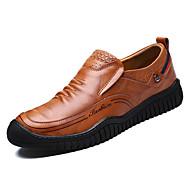 Muškarci Cipele Koža Proljeće Jesen Udobne cipele Natikače i mokasinke za Kauzalni Crn Svjetlosmeđ Tamno smeđa