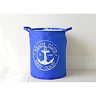 billige Lagring og oppbevaring-Middelhavet blå anker spenne oxford klut bjelke lagring bøtte vanntett hindre folding lagring bøtte