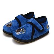tanie Obuwie chłopięce-Dla chłopców Buty Polar Wiosna Jesień Wulkanizowane buty Comfort Buty płaskie Tasiemka na Casual Granatowy