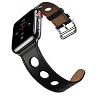 billiga Smart klocka Tillbehör-Klockarmband för Apple Watch Series 4/3/2/1 Apple Modernt spänne Läder Handledsrem