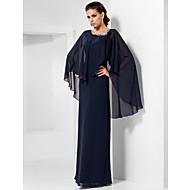 A tubino Con decorazione gioiello Lungo Chiffon Serata formale Vestito con Dettagli con cristalli di TS Couture®