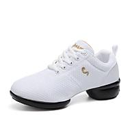 baratos Sapatilhas de Dança-Unisexo Tênis de Dança Tule Têni Recortes Salto Meia Pata Personalizável Sapatos de Dança Branco