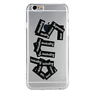 billiga Mobil cases & Skärmskydd-fodral Till Apple iPhone 6 iPhone 7 Genomskinlig Mönster Läderplastik Skal Ord / fras Tecknat Mjukt TPU för iPhone X iPhone 8 Plus iPhone