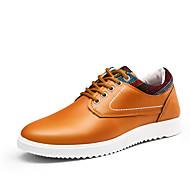 お買い得  メンズオックスフォードシューズ-靴 レザーレット 春 秋 コンフォートシューズ オックスフォードシューズ のために カジュアル ブラック オレンジ ダークブルー