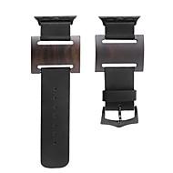 billiga Smart klocka Tillbehör-Klockarmband för Apple Watch Series 3 / 2 / 1 Apple Modernt spänne Läder Trä Handledsrem