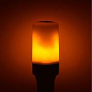 1kpl 5W 700lm E27 GU10 B22 LED-maissilamput E27 / E14 96 LEDit SMD 2835 LED Lights Koristeltu Liekki-vaikutus Lämmin valkoinen 1400K AC