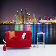 billige Tapet-Art Deco 3D Hjem Dekor Moderne By- / Flag Tapetsering Materiale selvklebende nødvendig Veggmaleri , Tapet
