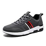 baratos Sapatos Masculinos-Homens Sapatos Confortáveis Jeans Primavera / Outono Tênis Preto / Cinzento