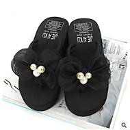 お買い得  レディーススリッパ&フリップフロップ-女性用 靴 EVA / PUレザー 夏 コンフォートシューズ スリッパ&フリップ・フロップ ウエッジヒール クローズトゥ グレー / フクシャ / ライトピンク