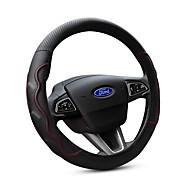 tanie Noworoczna wyprzedaż2019-Pokrowce na kierownicę prawdziwa skóra 38 cm Czarny / Czerwony Na Ford Focus / Escort / Fiesta Wszystkie roczniki